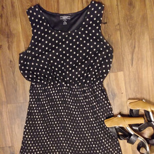 POETRY - black & white, polka dot dress